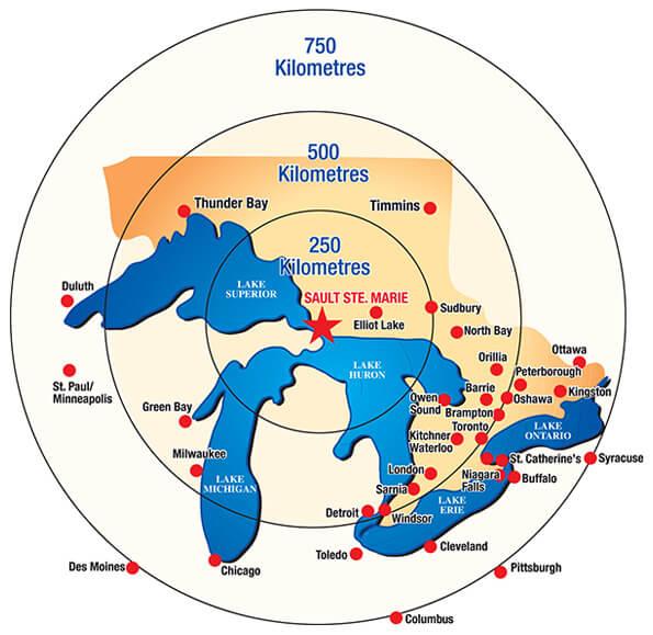 Sault Area Map